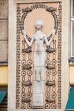 Décoration architecturale du bâtiment Prague, République Tchèque Image stock