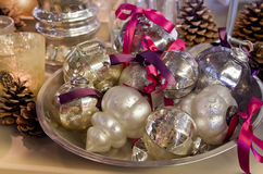 Décoration argentée de Noël photo libre de droits