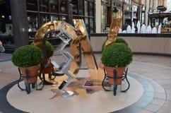 Décoration au centre commercial à Leeds Images libres de droits