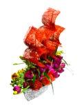Décoration avec des fleurs sous forme de bateau Photographie stock libre de droits