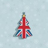 Décoration britannique de Noël illustration stock