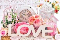 Décoration chic minable romantique d'amour Images libres de droits