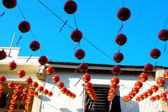 Décoration chinoise de maison de festival photos stock