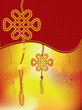 Décoration chinoise de nouvelle année - noeud de bonne chance Photos stock