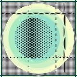 Décoration colorée Bruit, cru, texture abstraite 90s, 70s photos stock