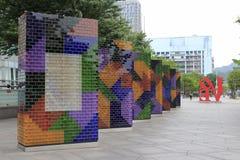 Décoration colorée de mur de ville Photographie stock libre de droits