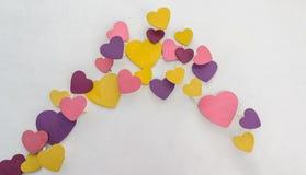Décoration colorée pourpre de coeur Photographie stock libre de droits