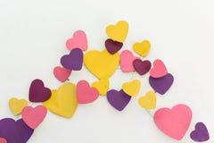Décoration colorée pourpre de coeur Images stock
