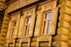 Décoration découpée de fenêtre Photographie stock