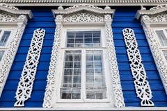 Décoration découpée de fenêtre Photo stock