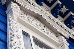 Décoration découpée de fenêtre Image libre de droits