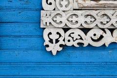Décoration découpée de fenêtre Photographie stock libre de droits