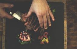 Décoration délicieuse de vue supérieure de légumes frais de ferme Images stock