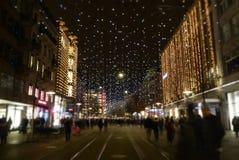 Décoration d'Ève de Noëls à Zurich, Suisse photos libres de droits