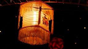 Décoration d'éclairage dans un festival pour l'usage de fond Photos stock