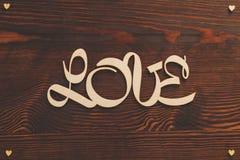 Décoration d'écriture d'amour Photographie stock libre de droits