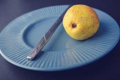 Décoration d'électrodéposition de vintage - poire jaune Image stock