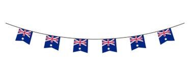 Décoration d'étamine en couleurs de drapeau d'Australie Guirlande, fanions sur une corde pour la partie, carnaval, festival, célé illustration stock