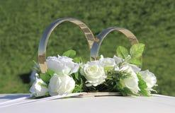 Décoration d'anneaux de mariage Photographie stock libre de droits