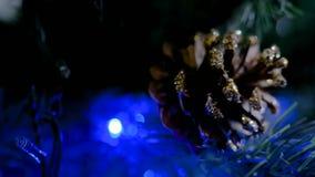 Décoration d'arbre de Noël banque de vidéos