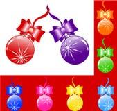 décoration d'arbre de Noël de vecteur Image libre de droits