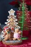 Décoration d'arbre de pain d'épice Images libres de droits