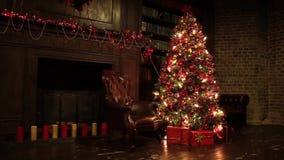 Décoration d'arbre d'an neuf clips vidéos