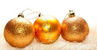 Décoration d'or d'arbre de Noël images stock