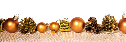Décoration d'or de Noël Photo stock