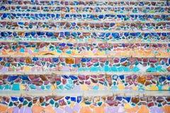 Décoration d'escalier de mosaïque d'en céramique cassée Images libres de droits