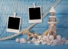 Décoration d'espèce marine et photos instantanées Image libre de droits
