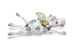 Décoration d'an neuf - la vache à vol Photo stock