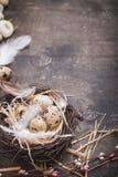 Décoration d'oeufs de pâques Photo libre de droits