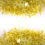 Décoration d'or plus d'et dessous pendant Noël et la nouvelle année Photo libre de droits