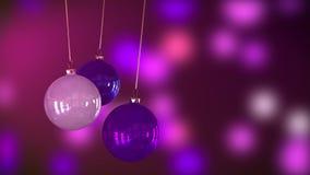 Décoration de babioles de Noël banque de vidéos