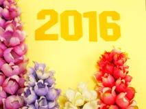 décoration de bacground de la nouvelle année 2016 Images libres de droits