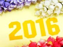 décoration de bacground de la nouvelle année 2016 Photo libre de droits