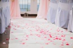 Décoration de bas-côté de mariage Photo stock