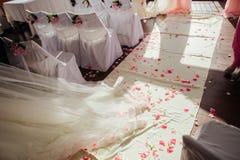 Décoration de bas-côté de mariage Image stock