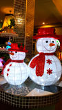 Décoration de bonhomme de neige, Joyeux Noël, bonne année Images libres de droits