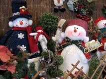 Décoration de bonhommes de neige images libres de droits