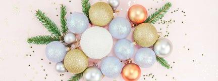 Décoration de boules de Noël image stock