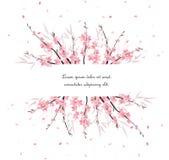 Décoration de branche de Sakura illustration de vecteur