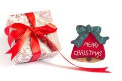 Décoration de cadeau de Noël Image libre de droits