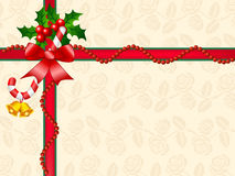 Décoration de cadre de cadeau de Noël Photographie stock libre de droits