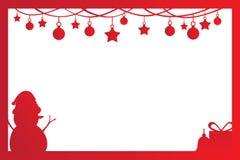 Décoration de cadre de Noël Photographie stock