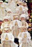 Décoration de Carolers de Noël Photos libres de droits