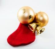 Décoration de chaussette de Noël Images stock