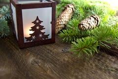 Décoration de Christms avec la lanterne Image stock
