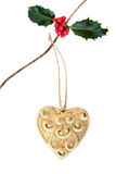 Décoration de coeur de Noël Photos libres de droits